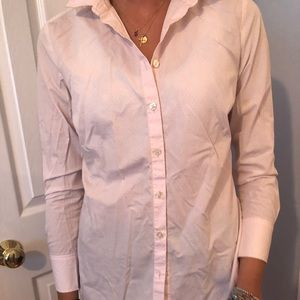 Ann Taylor Pink Button Up